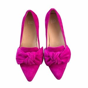 BP. Nordstrom Kari Bow Suede Pointed Toe Loafer